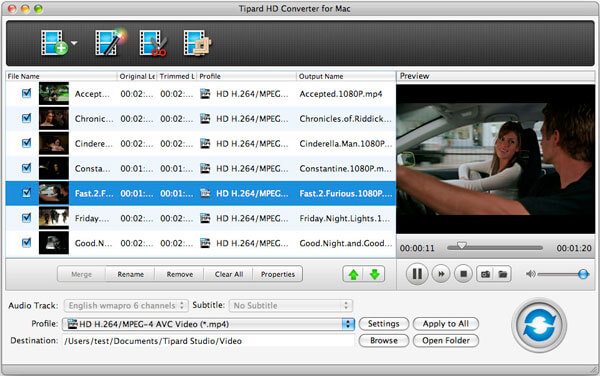 tipard hd video converter for mac