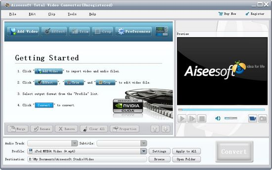 interface of Aiseesoft Total Video Converter
