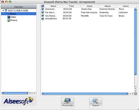 ipod transfer for mac
