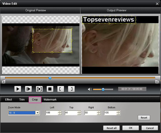 crop n How to convert Mod/Tod Video to popular video formats