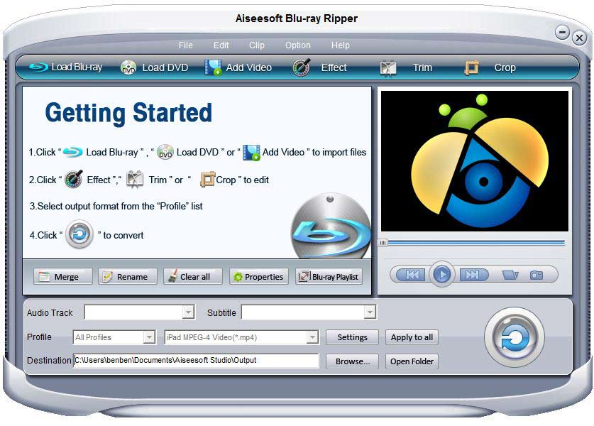 Aiseesoft Blu Ray Ripper screenshot