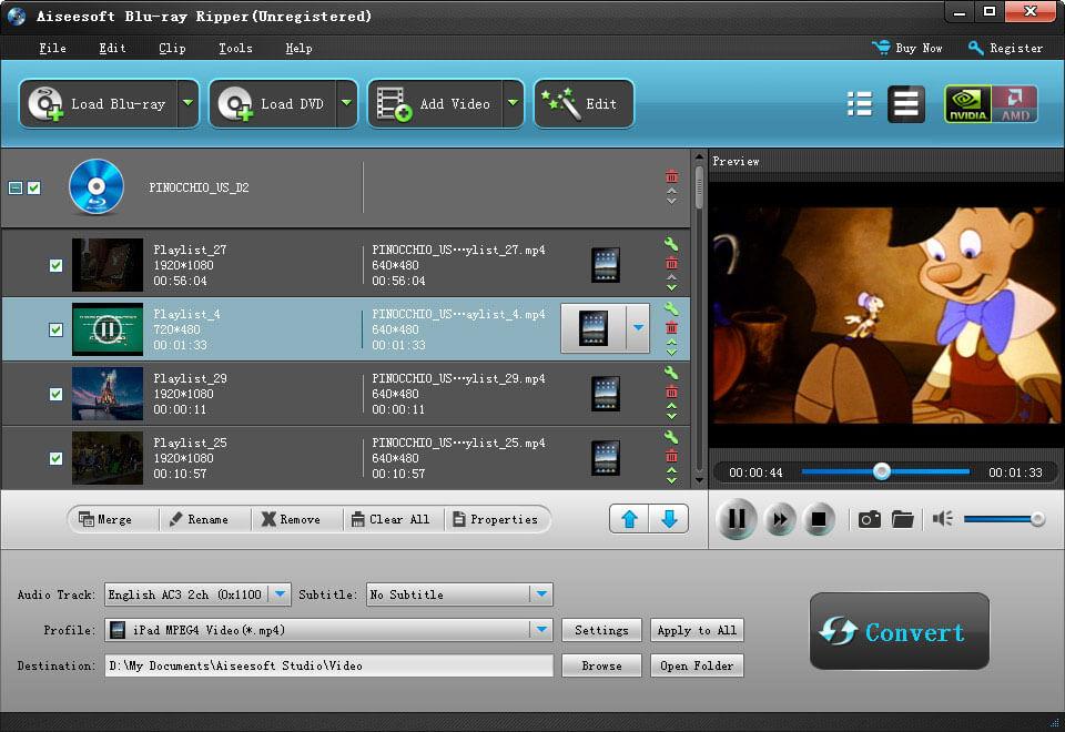 Aiseesoft Blu Ray Ripper, rip Blu ray to AVI, iPod, MP4 with best blu ray ripper software