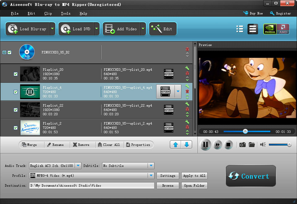 Blu-ray Converter Ultimate - Convert blu ray movies to MKV AVI DVD etc