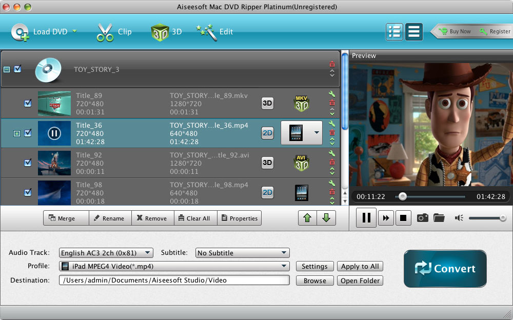 Best DVD Ripper for Mac - Rip DVD movies to AVI/MP4/FLV/MKV/MPEG/WMV