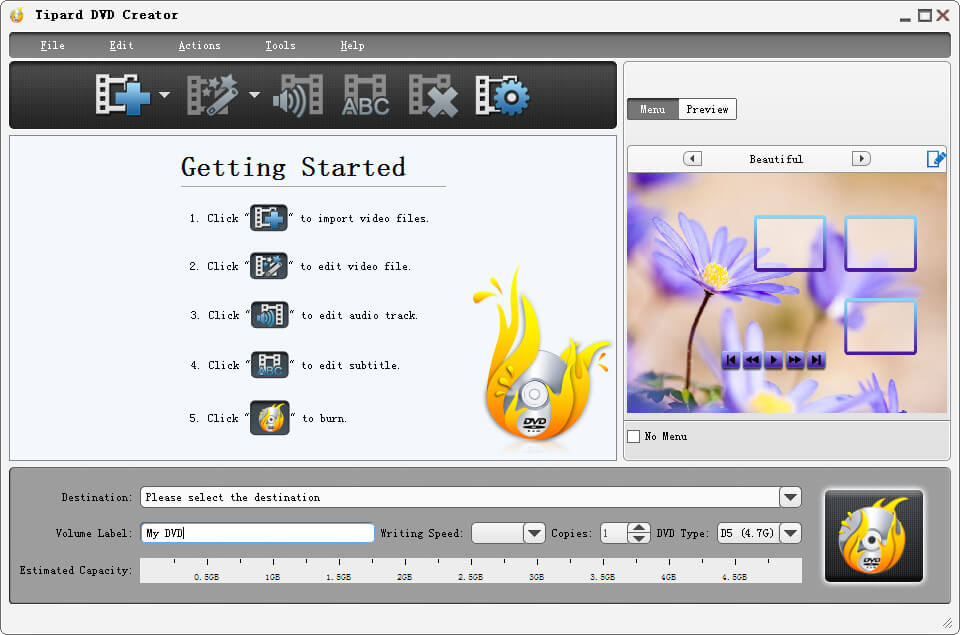 Tipard DVD Creator - best Video to DVD Burner& Converter
