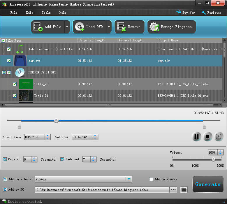 Aiseesoft iphone 4 transfer 3.3.52 backup video audio photo ringtone from iphon
