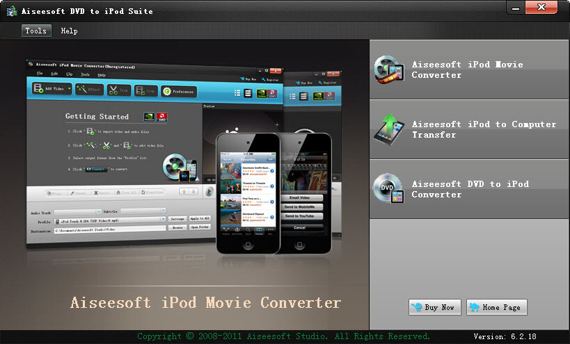 aiseesoft dvd to ipod suite publisher aiseesoft studio version 6 2 18 ...