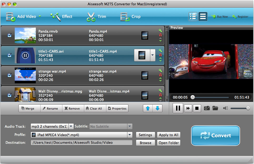 Best M2TS Converter for Mac - Convert M2TS video to you what
